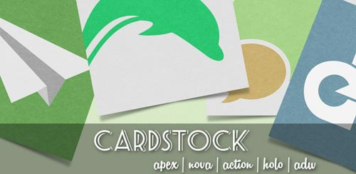 Cardstock Icon Theme v2.0