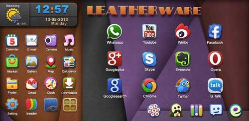 Leatherware GOLauncher EX Theme v1.0