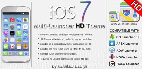 iOS7 - iPhone HD 5 in 1 Theme