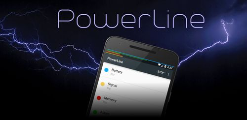 PowerLine: On screen battery, signal, data lines v4.9