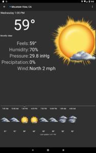 تصویر محیط Palmary Weather v1.3.4