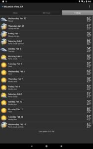تصویر محیط Palmary Weather v1.2.4