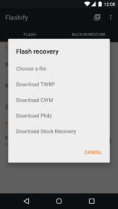 تصویر محیط Flashify (for root users) v1.9.2