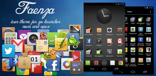 Faenza Theme for Go Launcher v3.0