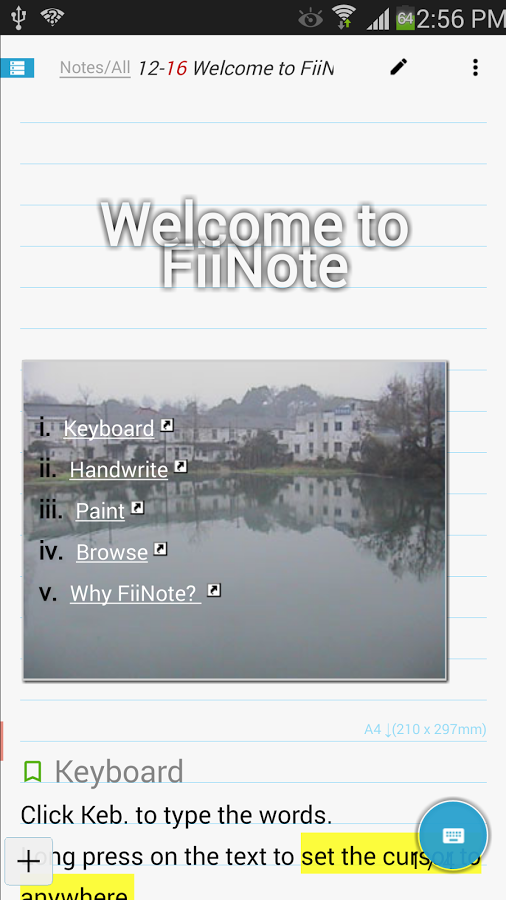 FiiNote, note everything v12.1