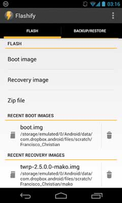 Flashify FULL (for root users) v1.0.4.1