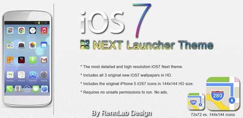 Next Launcher iOS7 iPhone v1.0