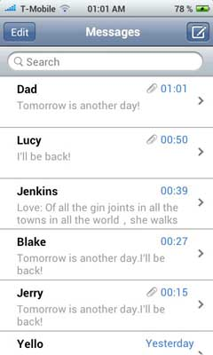 iPhone messages v1.36