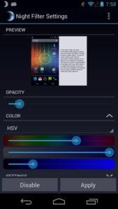 تصویر محیط Night Filter Pro v1.1.1