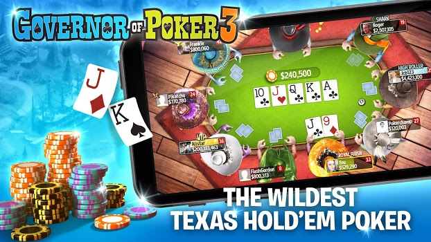 Governor of Poker 3 – Texas Holdem Poker Online v3.3.3