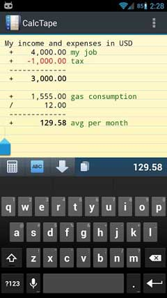 CalcTape Smart Calculator v1.1.1