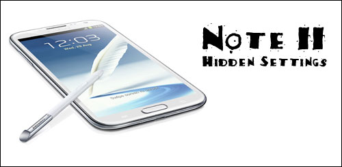 Note 2 Hidden Settings 1.3
