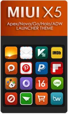 MIUI X5 HD Apex/Nova/ADW Theme v2.0.1
