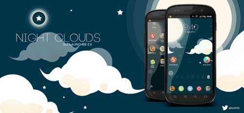 Night Clouds GO Launcher EX Theme v1.0