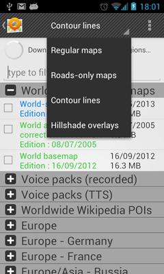 OsmAnd Contour lines plugin v1.0