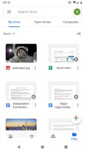 تصویر محیط Google Drive v2.19.392.07
