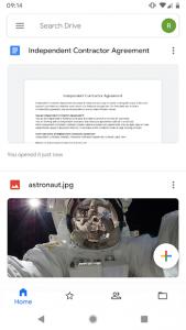 تصویر محیط Google Drive v2.19.472.05.40