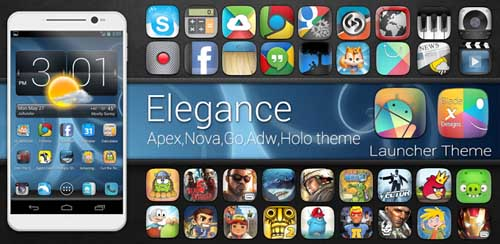 Elegant Glass HD APEX/NOVA/GO v2.0