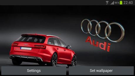 3D AUDI Logo HD Live Wallpaper v1.7.7
