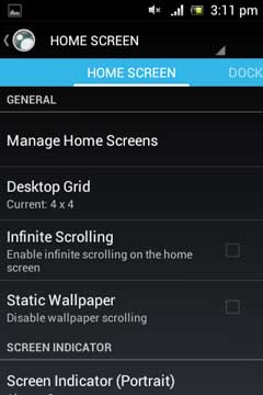 Advanced Xperia Z Launcher v2.0.6