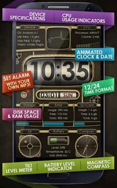 Device info ProClock Wallpaper v1.07