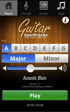 Guitar Jam Tracks Scales Buddy v2.3