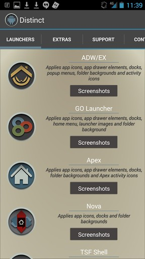 Round Distinct Launcher Theme v1.3