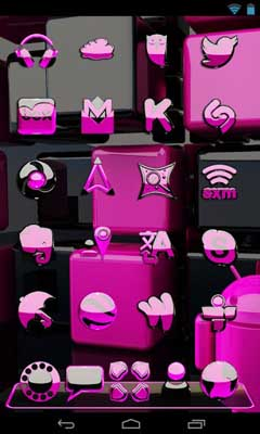 pink magic NEXT launcher theme v1.0