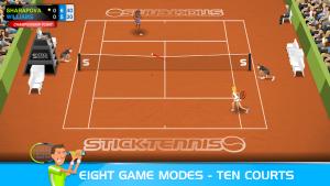 تصویر محیط Stick Tennis v2.9.1