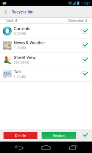 تصویر محیط system app remover pro v7.1