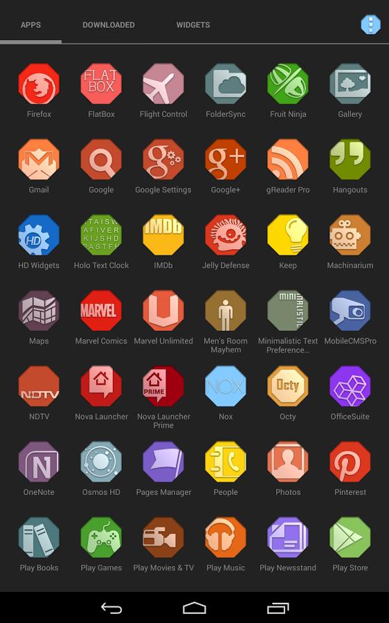 Octy (apex adw nova icons) v3.0