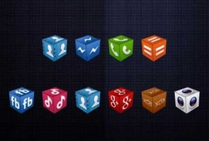 3D Cube Icons A