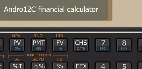 Andro12C financial calculator v2.05