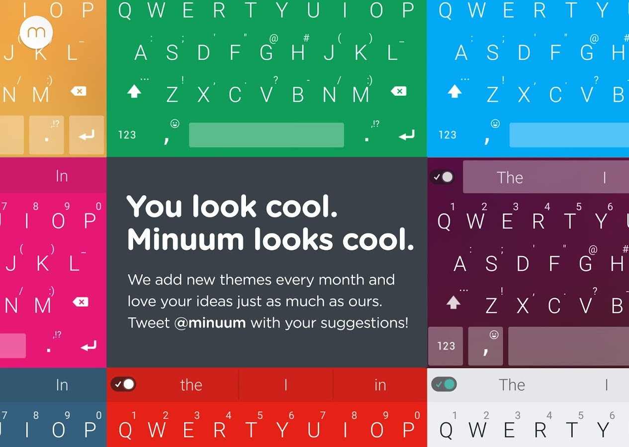 Minuum Keyboard + Smart Emoji v3.5.1