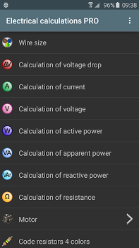 Electrical calculations PRO v6.3.0
