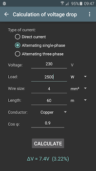 Electrical calculations PRO v6.4.0