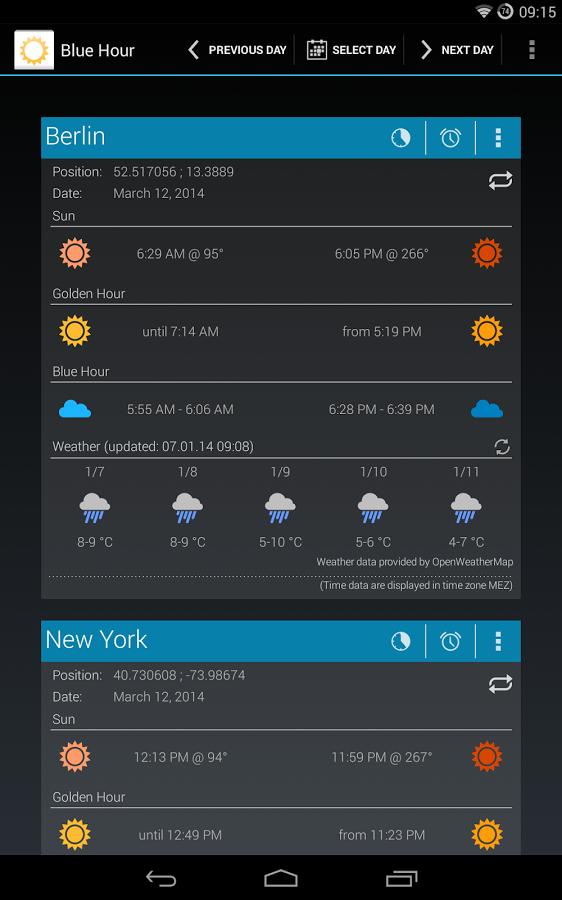 Blue Hour (Solar Calculator) v3.10.8