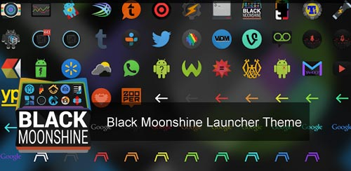Black Moonshine Launcher Theme v1.13