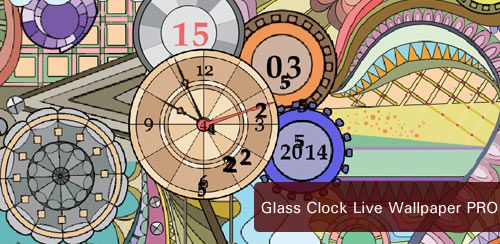 Glass Clock Live Wallpaper v1.2