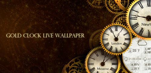 Gold Clock Live Wallpaper HD v1.03