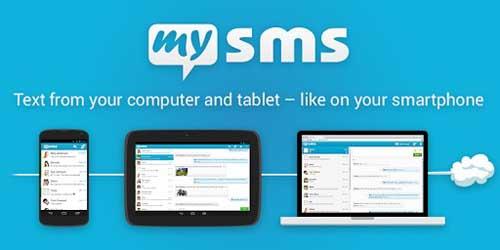 برنامه مدیریت پیامها بین کامپیوتر و موبایل SMS Text Messaging برای اندروید