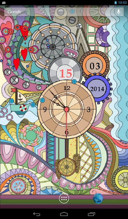 Glass Clock Live Wallpaper v1.2