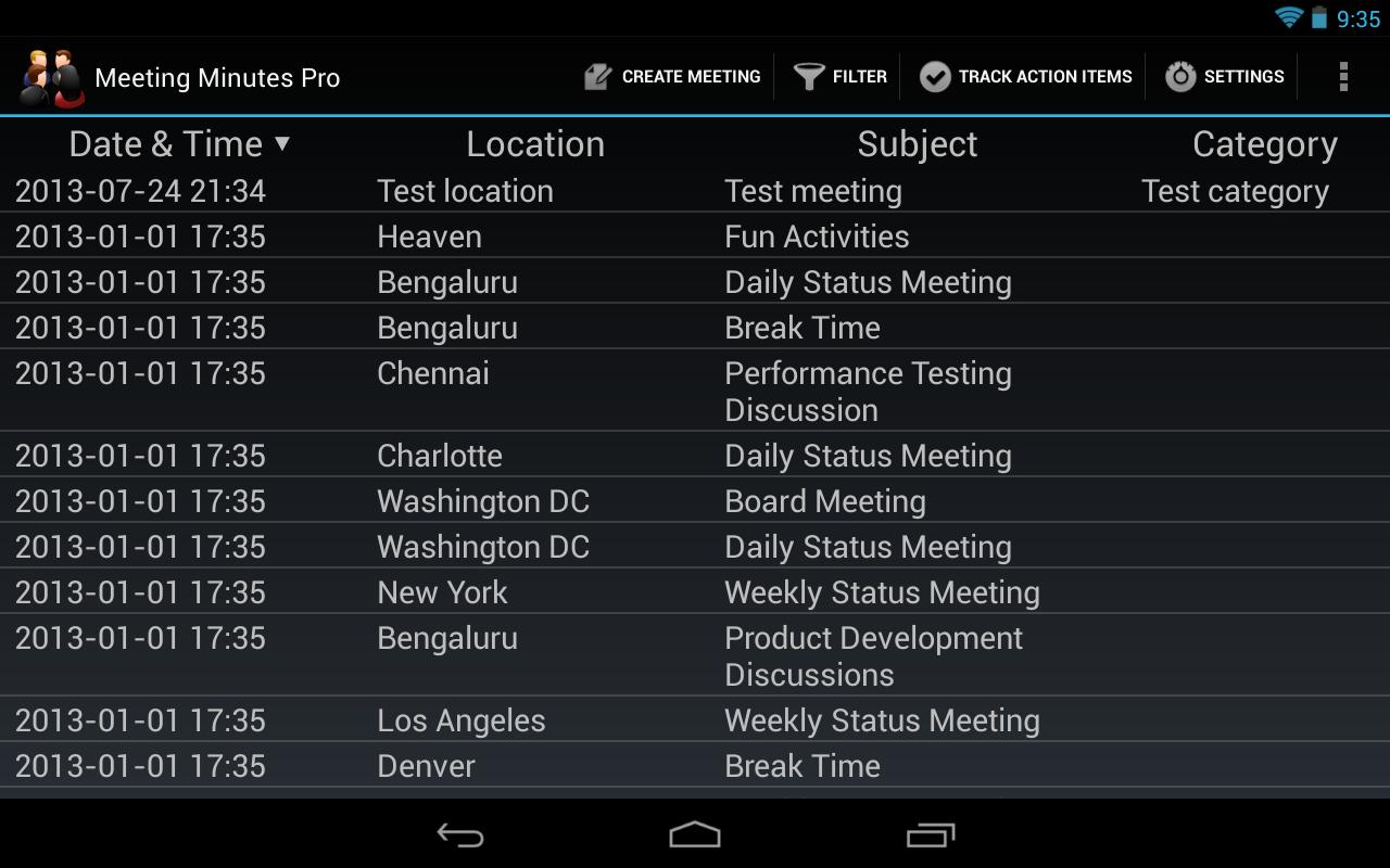 Meeting Minutes Pro v35