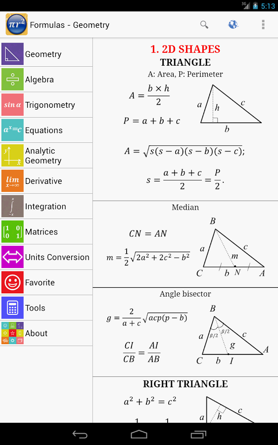 Maths Formulas v9.6