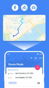 تصویر محیط Fake GPS Location – Joystick and Routes v4.1.18