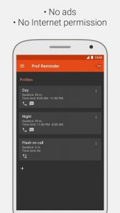 تصویر محیط Missed call reminder, Flash on call v3.1.1