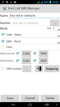Root Call SMS Manager v1.15