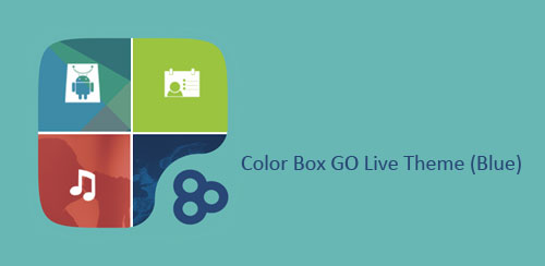 Color Box GO Live Theme (Blue) v1.0