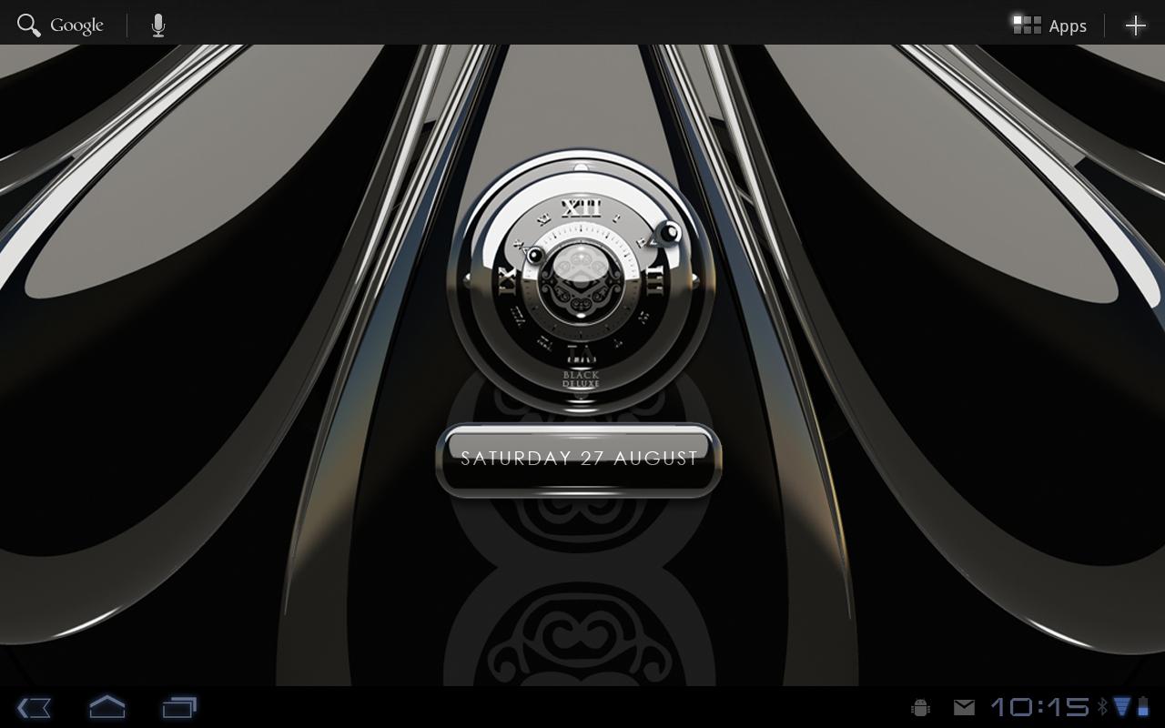 Black Deluxe designer clock v2.40