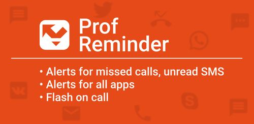 Missed call reminder, Flash on call v3.1.1